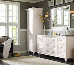 Dwelling Cabinetry  Style: Beckwith Traditional  Material: Maple  Finish: Pure White