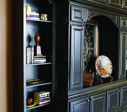 Legacy Cabinets Debut Series Portofino Maple Door in Ebony